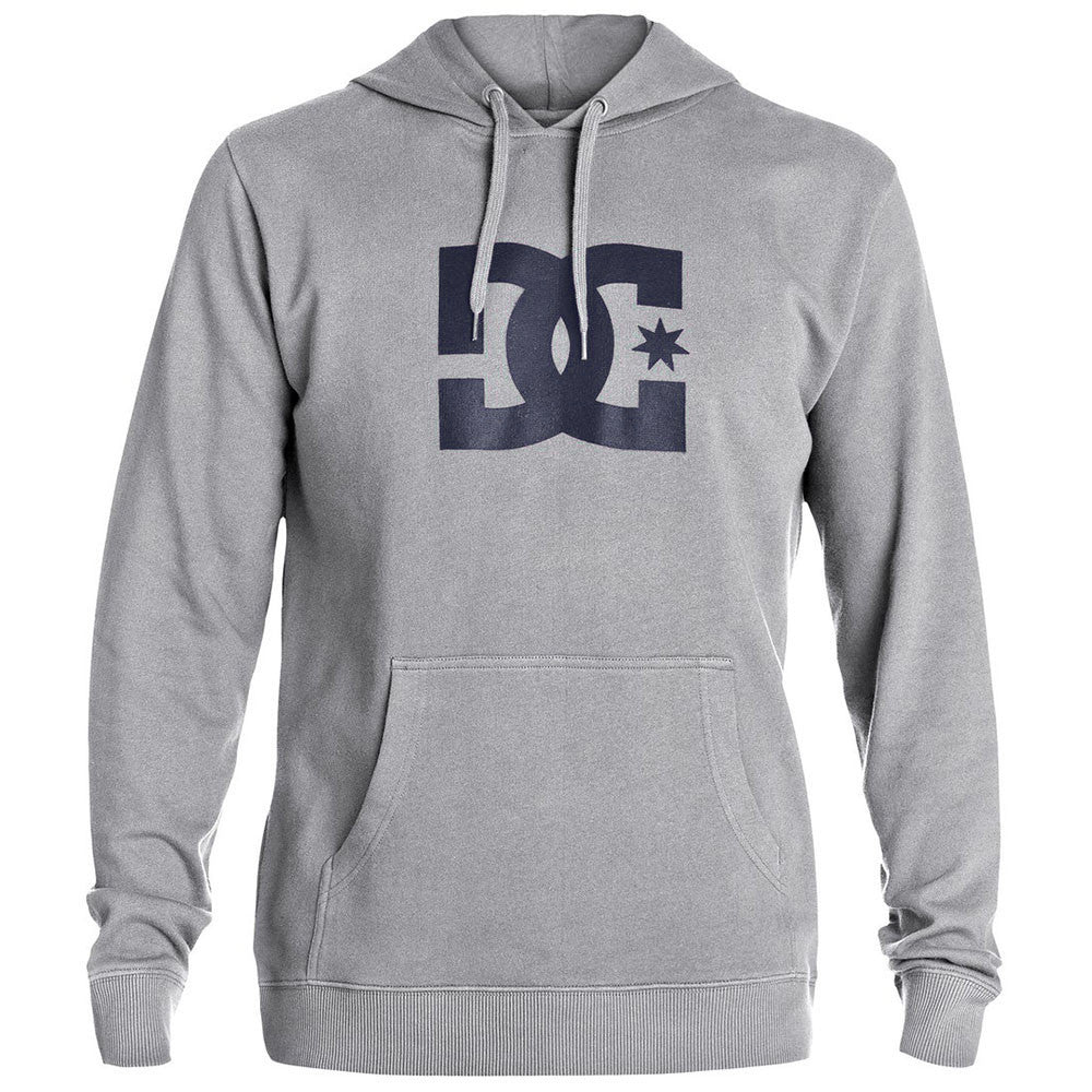 DC Star Hooded Pullover - Heather Grey KNFH - Men's Sweatshirt