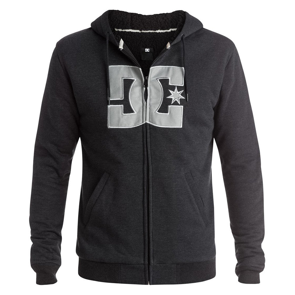 DC Rebel Star Sherpa P/O Hooded - Anthracite KVJ0 - Men's Sweatshirt