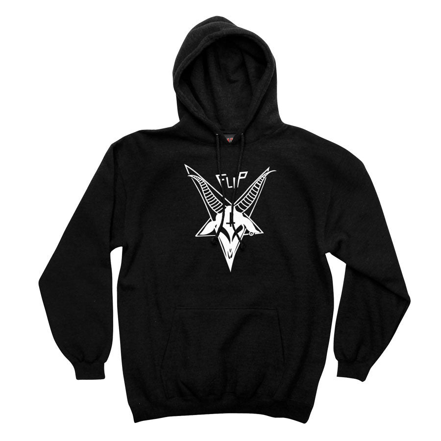 Flip Satanic Goat Pullover Hooded L/S - Black - Men's Sweatshirt