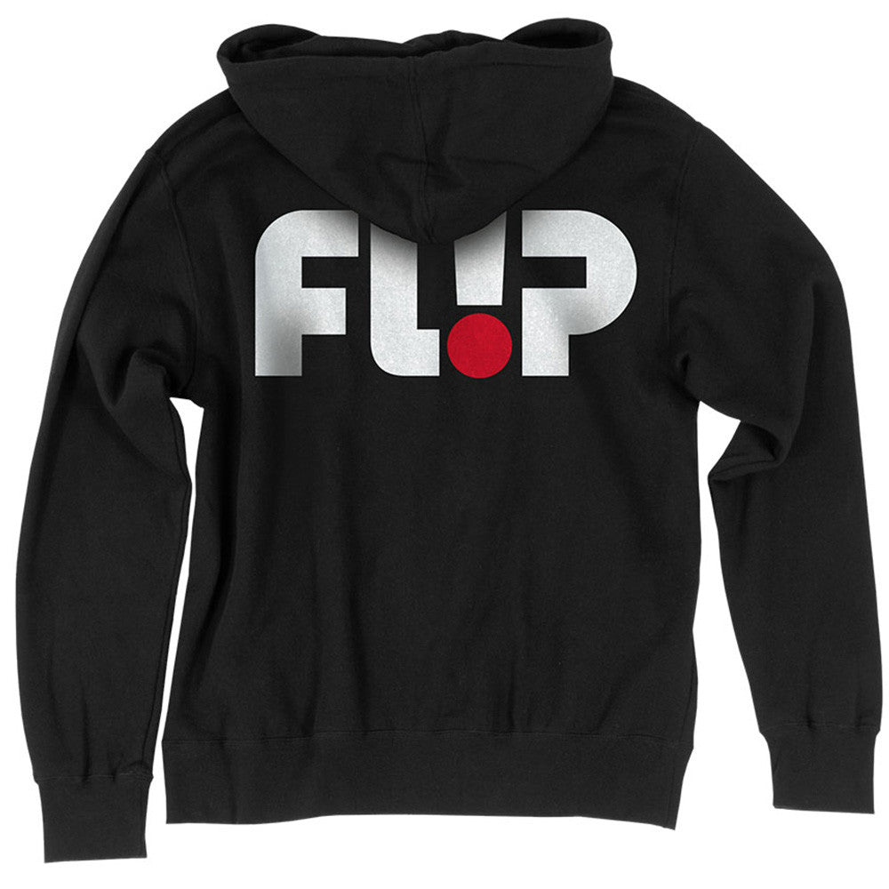 Flip Odyssey Logo Hooded Zip L/S - Black - Men's Sweatshirt