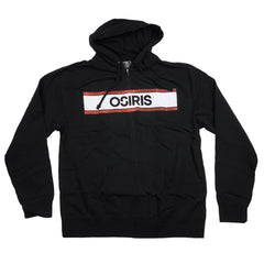 Osiris Heshin' Zip-Up Hooded - Black - Men's Sweatshirt