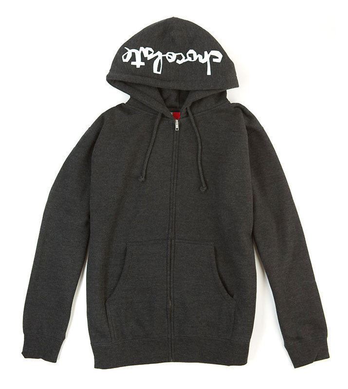 Chocolate Chunk Zip Up Hoodie - Charcoal - Men's Sweatshirt