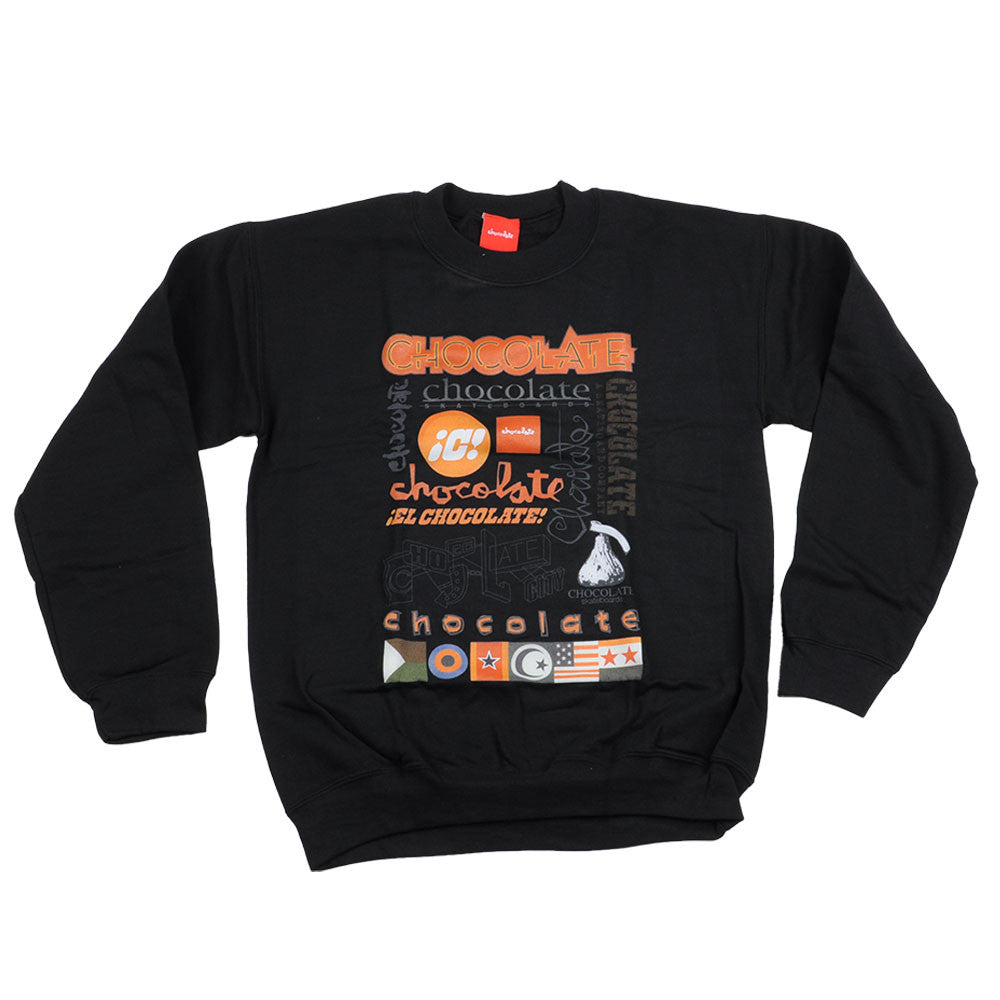 Chocolate Logo Blitz Crew - Black - Men's Sweatshirt