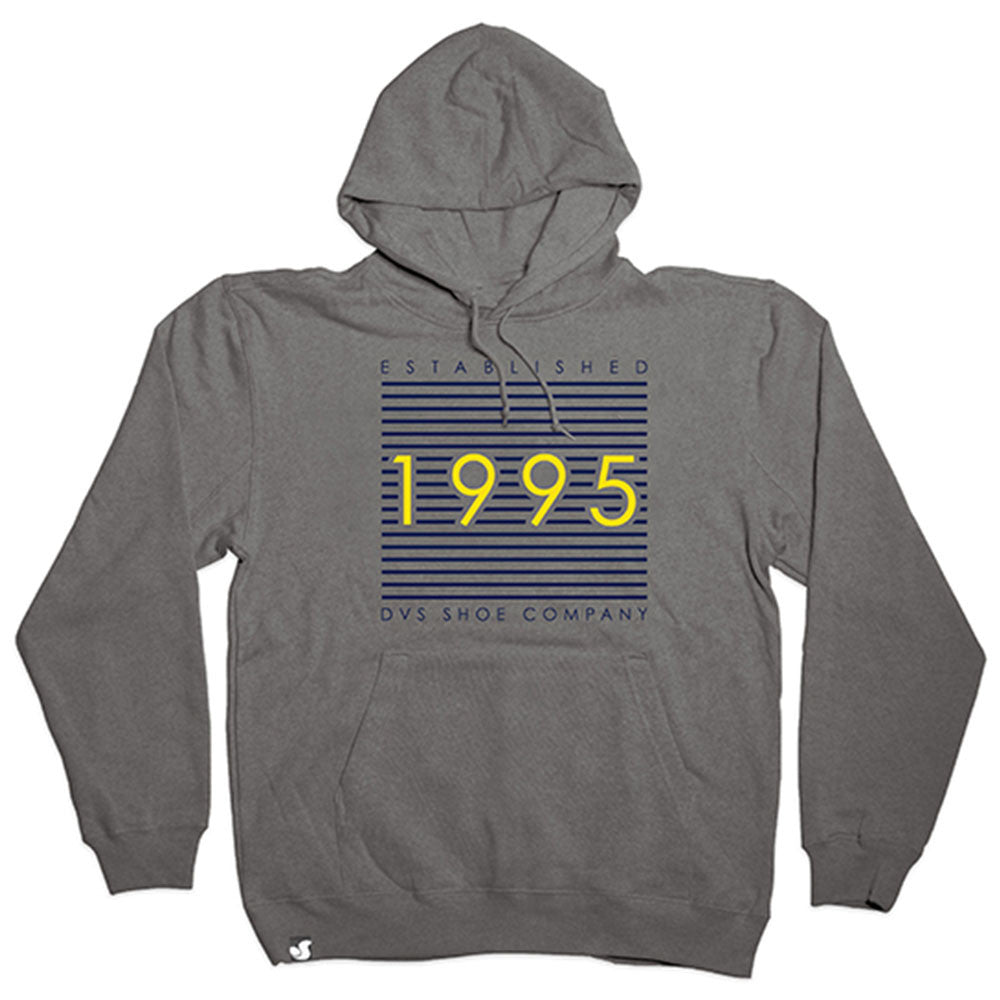 DVS Lineage P/O Hooded - Grey/Black 020 - Men's Sweatshirt