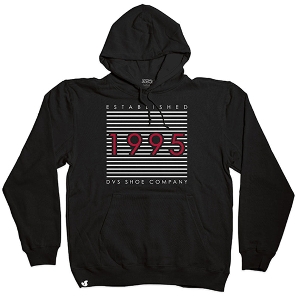 DVS Lineage P/O Hooded - Black/White 001 - Men's Sweatshirt