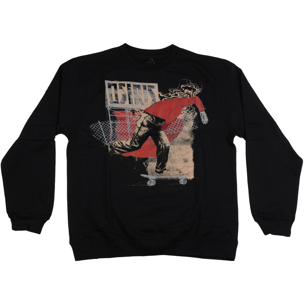 Osiris Pusher Crew - Black - Men's Sweatshirt