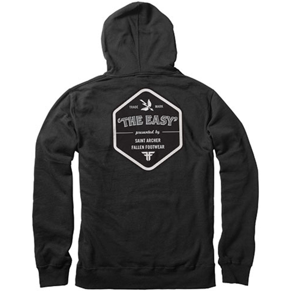 Fallen Saint Archer P/O Hooded - Black - Men's Sweatshirt