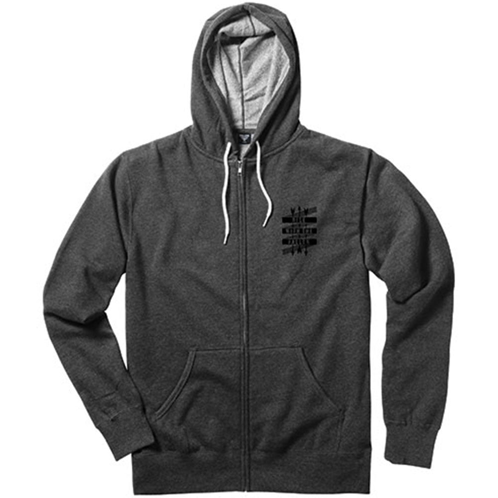 Fallen Rise Arrows Zip-Up Hooded - Charcoal - Men's Sweatshirt