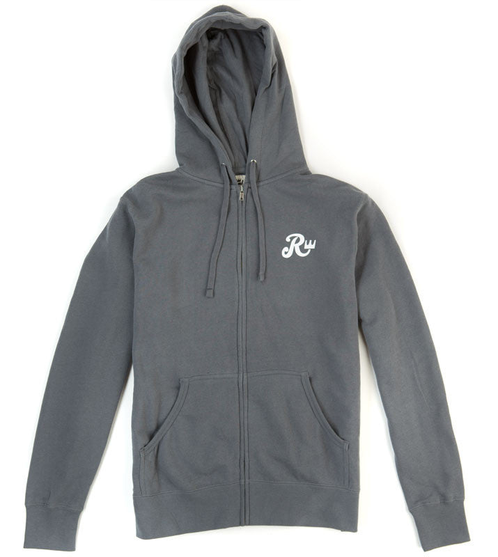 Royal Biker Zip Hoodie - Grey - Men's Sweatshirt