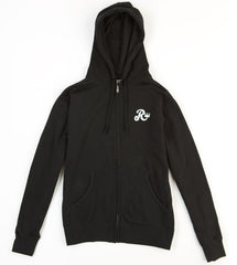 Royal Biker Zip Hoodie - Black - Men's Sweatshirt