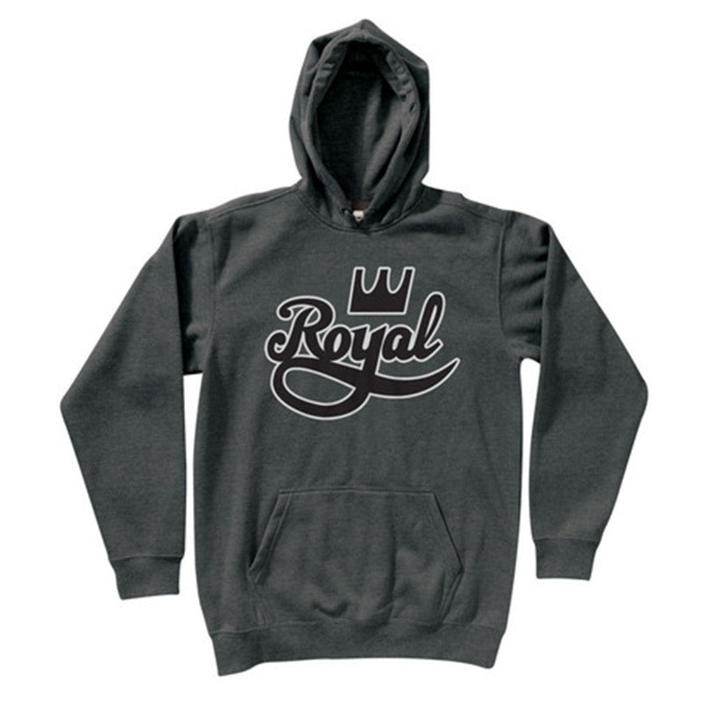Royal Outline P/O Hooded - Charcoal - Men's Sweatshirt