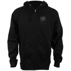 Royal Crown Script Hooded Zip-Up - Black - Men's Sweatshirt