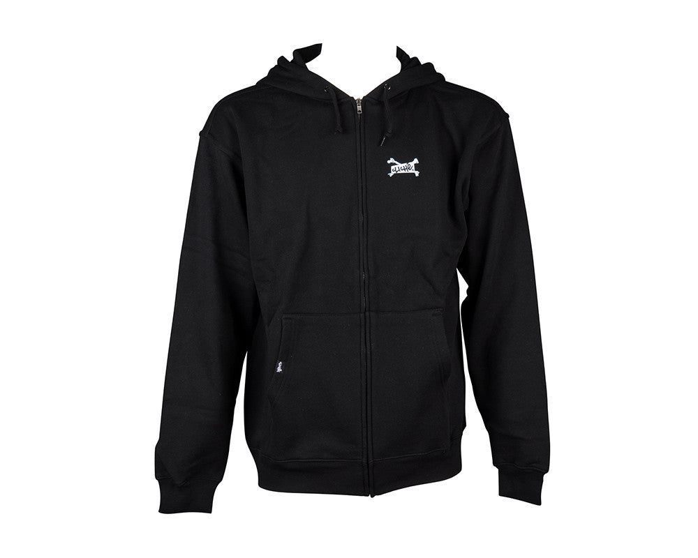 Cliche Skull Camera Hoodie Zip - Black - Sweatshirt