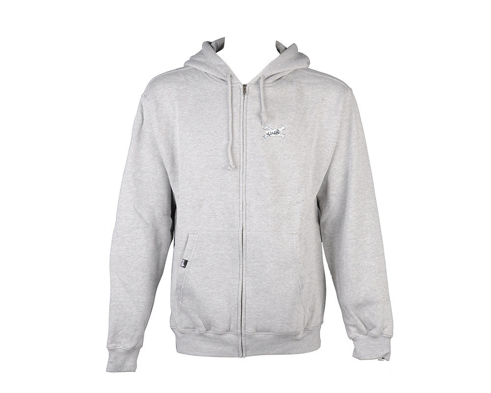 Cliche Skull Camera Hoodie Zip - Gunmetal/Heather - Sweatshirt