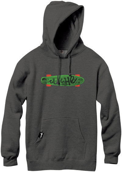 Cliche Trocadero Pullover Hood - Charcoal Heather - Men's Sweatshirt