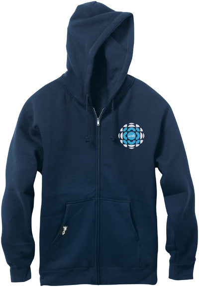 Cliche Retro Zip Hoodie - Navy - Men's Sweatshirt