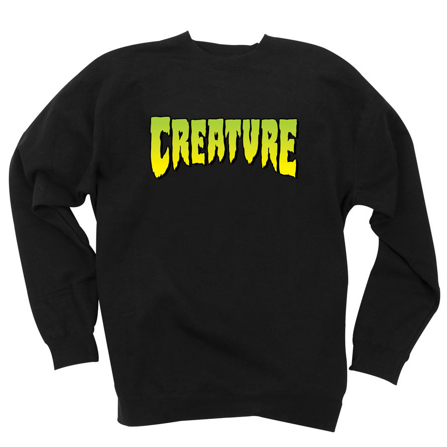 Creature Logo Crew Neck L/S - Black - Men's Sweatshirt