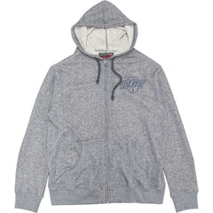 Deathwish Death Kings Zip Hoodie - Grey - Men's Sweatshirt