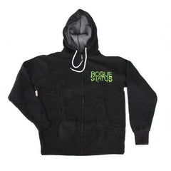 Rogue Status Moneyshot Drip - Men's Sweatshirt - Charcoal Heather / Green