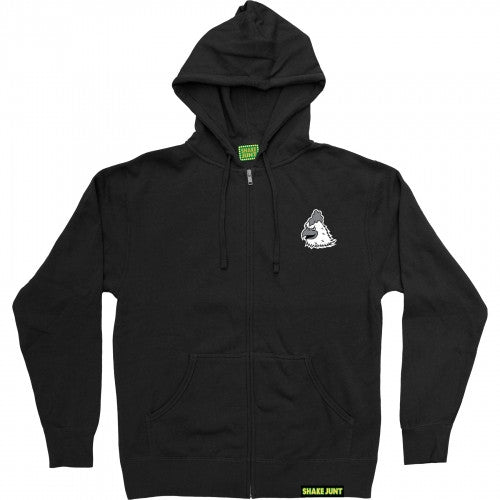 Shake Junt Mascot Zip Hoodie - Black/White - Men's Sweatshirt