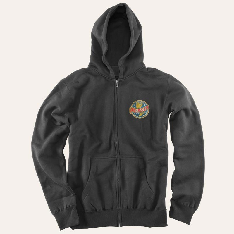 Slave Old World Patch Zip Hood - Black - Sweatshirt