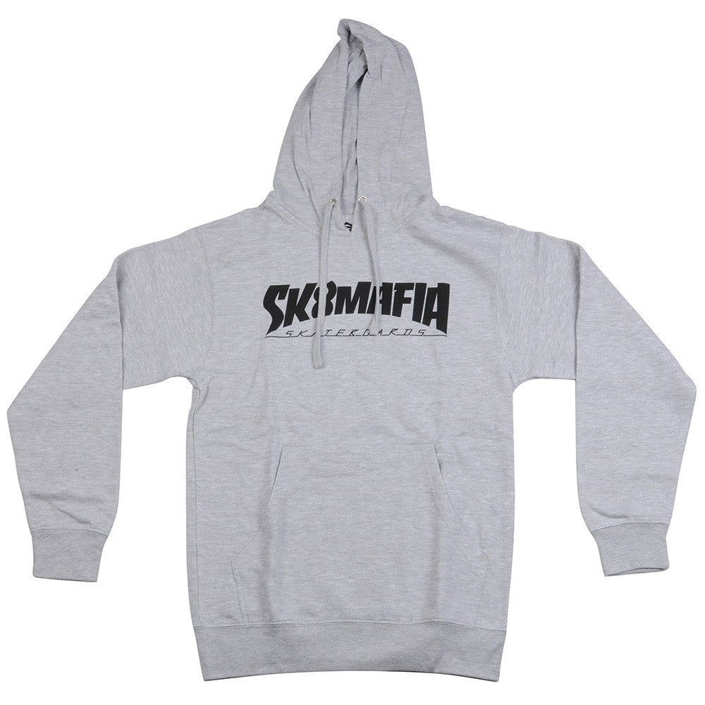 Sk8mafia Thrashed P/O Hooded - Athletic Grey - Men's Sweatshirt