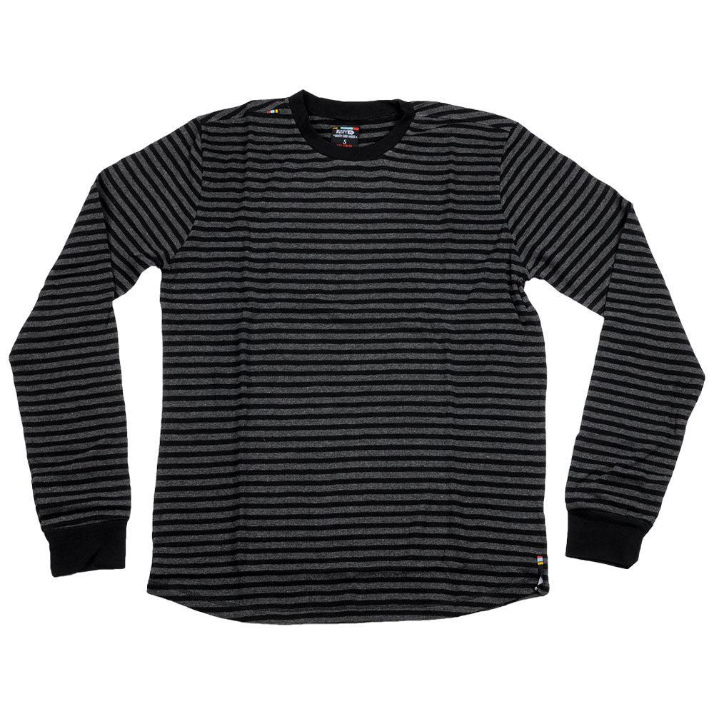 Rusty Sargent Striper L/S Thermal - Black - Mens Sweatshirt