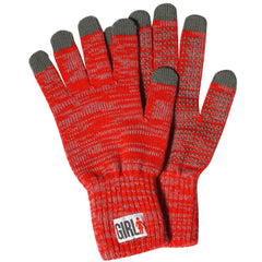Girl IPhone Touch - Heather Red - Gloves