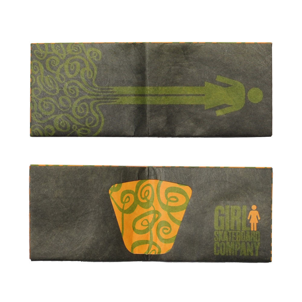 Girl OG Swirl Tyvek - Olive - Men's Wallet