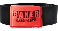 Baker BK Brand Logo - Red/Black - Men's Belt