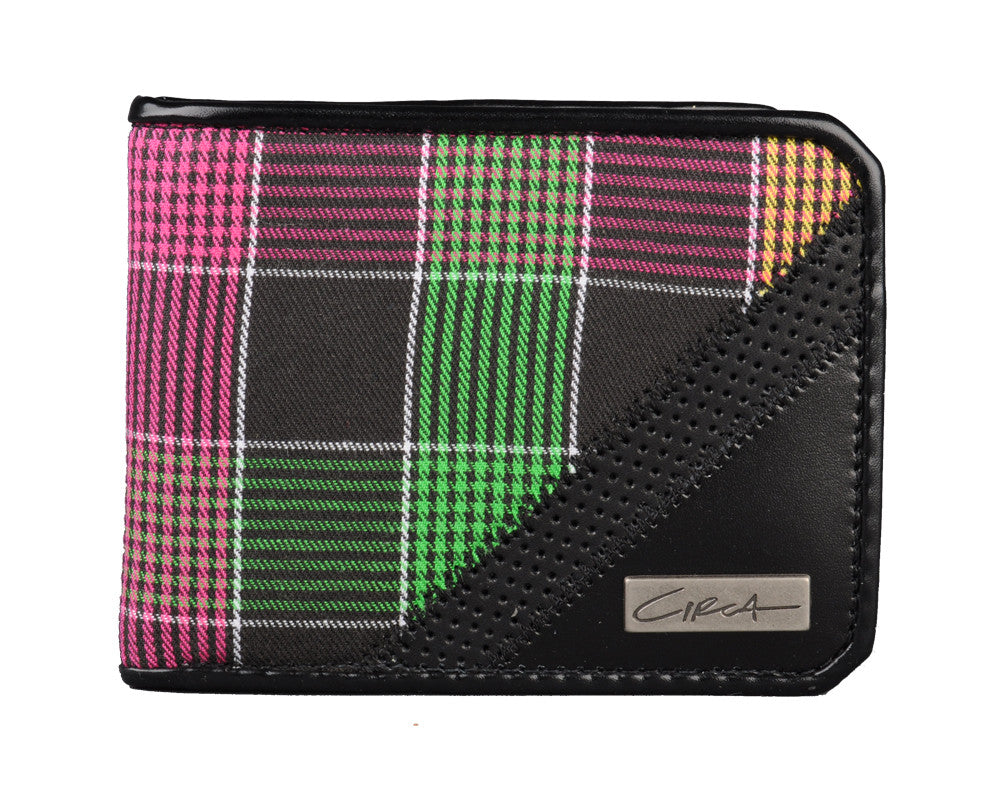 Circa Plaid Promo - Black - Men's Wallet