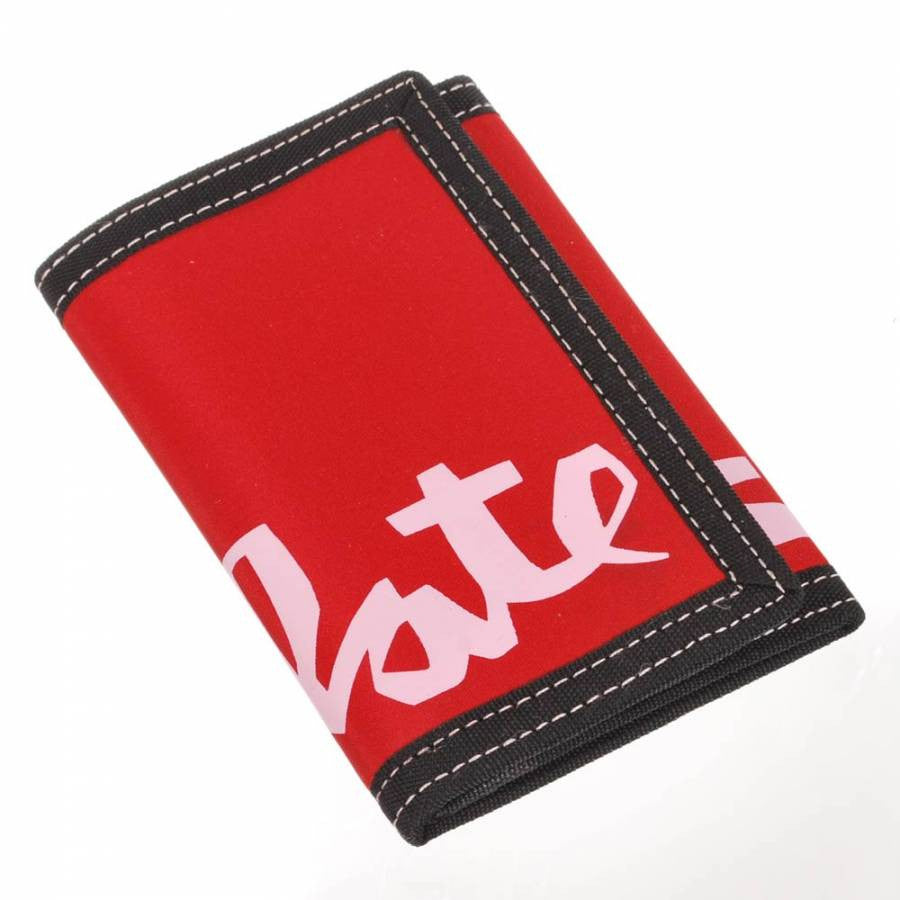 Chocolate Big Chunk Velcro - Red - Men's Wallet