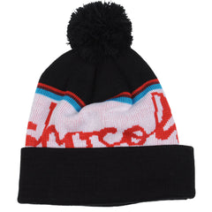 Chocolate Chunk Stripe Pom - Black - Men's Beanie
