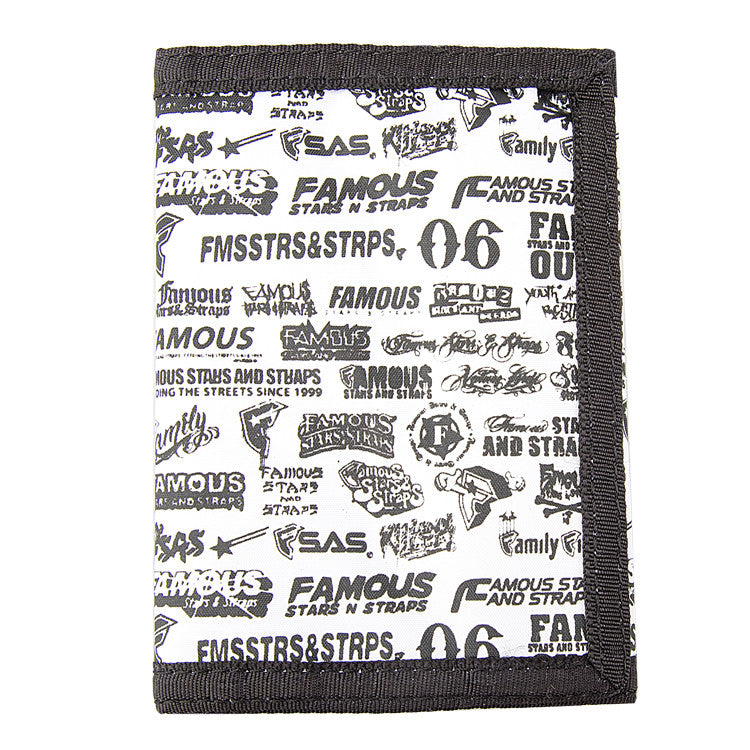 Famous Stars and Straps Big Branded - White - Men's Wallet