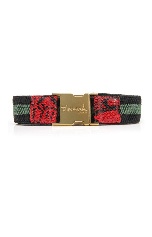 Diamond Terry - Red/Gold - Men's Belt