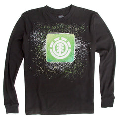 Element Kingston - Black - Youth Long Sleeve Shirt