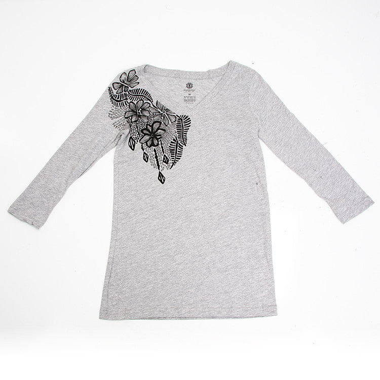 Element Cascade - Heather Grey - Women's Long Sleeve Shirt