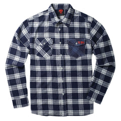 Zero Flannel - Navy - Men's Collared Shirt