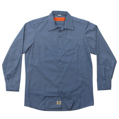 Independent NO BS Button Up L/S Top - Postman Blue - Men's Collared Shirt