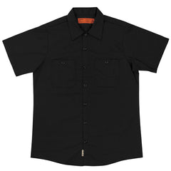 Independent NO BS Lines B/C Button Up S/S Top - Black - Men's Collared Shirt