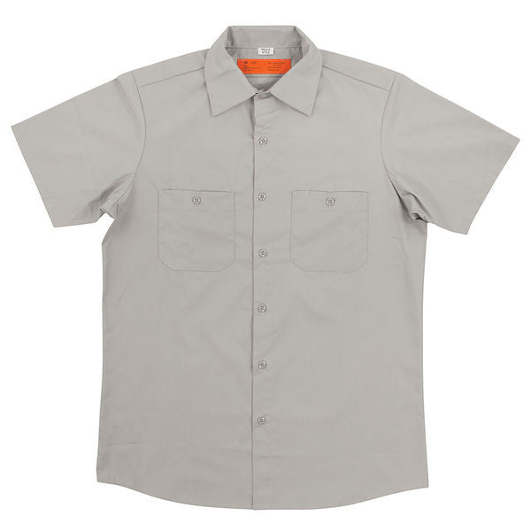Independent BTG Ring Workshirt S/S Top - Light Grey - Men's Collared Shirt