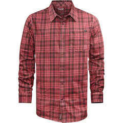 Etnies Newbury Park - Ox Blood - Men's Collared Shirt