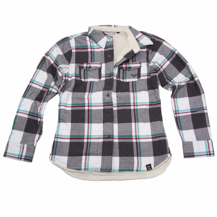 Roxy Plaidster - TShirt - Dark Grey