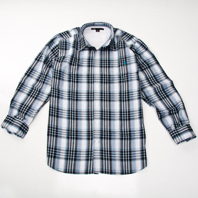 Volcom X-Factor Plaid - White - Men's Collared Shirt