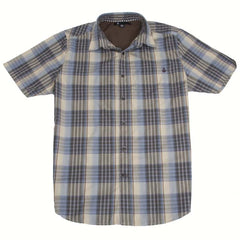 Volcom X Factor Plaid - Oatmeal - Men's Collared Shirt