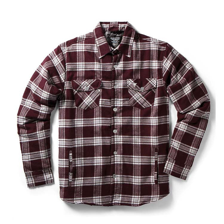 Fallen Cheyenne DLX - Plum - Men's Collared Shirt