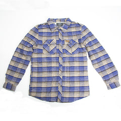 Elwood Quilted - Royal - Men's Collared Shirt