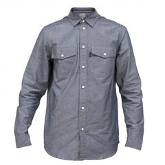 WeSC Udo - Mechanical Blue - Men's Collared Shirt