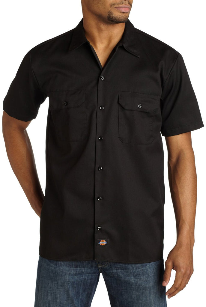 Dickies Short Sleeve Workshort - Men's Collared Shirt - Black