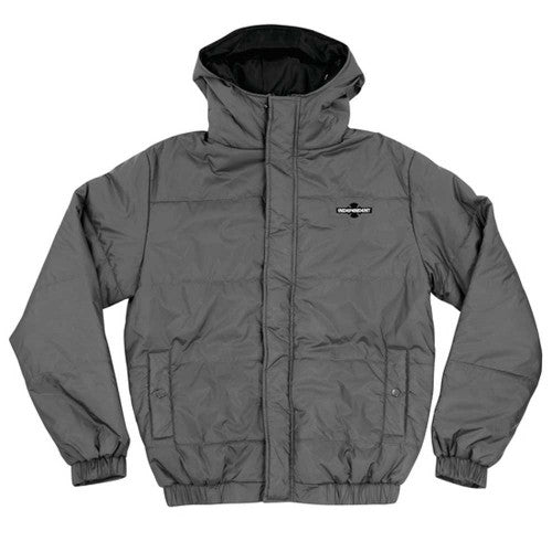 Independent Swelter Hooded Puffy Jacket - Charcoal - Men's Jacket